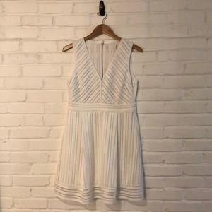 White J Crew Eyelet Stripe Dress 12P